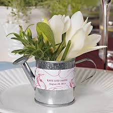 Flower Favors by Miniature Silver Metal Watering Can Favors The Knot Shop