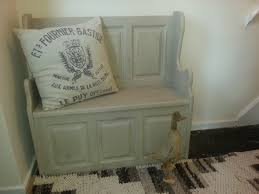 monks bench painted in annie sloan country grey by little brown