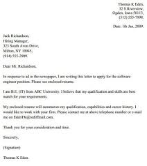 cover letter examples engineer engineer cover letter example