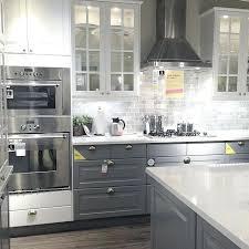 kitchen design ideas 2014 ikea kitchen design showroom kitchen gray lowers with white glass