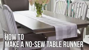 tip tuesday diy no sew table runner youtube