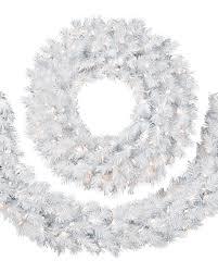 winter white wreath garlands wreaths and craft materials