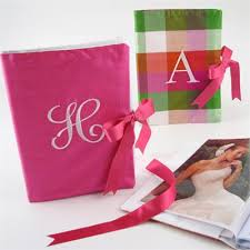 photo albums personalized personalized silk photo album monogram photo album