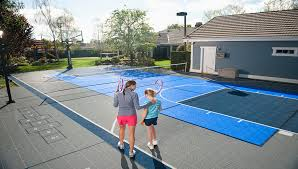 Build A Basketball Court In Backyard Home Basketball Court Backyard Tennis Courts Basketball Court
