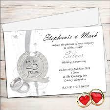 10 personalised 25th silver wedding anniversary invitations n9
