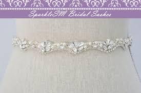 bridal belt pearl rhinestone sash beaded wedding belt bridal dress