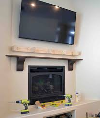 building our fireplace the diy mantel our diy house how to build