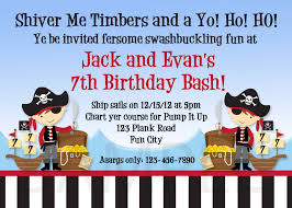 Invitation Card 7th Birthday Boy Pirate Birthday Party Invitations U2013 Frenchkitten Net