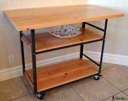 kitchen island casters rolling island counter table her tool belt