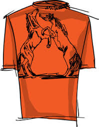 tee sketch of horse vector illustration royalty free stock image