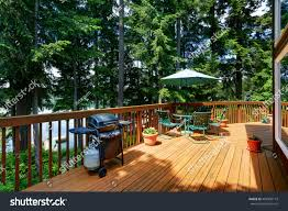 balcony house exterior patio area opened stock photo 469399115