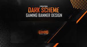 gaming design photoshop tutorial scheme gaming banner design
