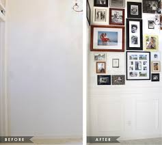 how to put up a chair rail and premade moulding panels house mix