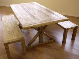 shabby chic wooden dining table u0026 2 benches garden store