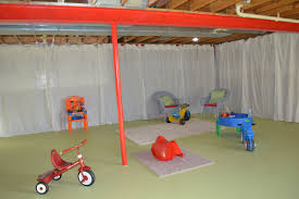 basement playroom update and wire curtain rod diy sunny carrier