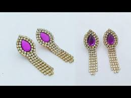 easy earrings simple and easy earrings in 5 minutes how to make designer