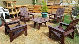 Wooden Outdoor Table Diy by Pallet Dining Table And Chairs