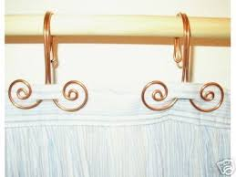 Swirl Shower Curtain 12 Handcrafted Solid Copper Swirl Shower Curtain Hooks Home