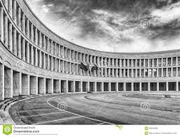 Neoclassical Architecture Neoclassical Architecture In Eur District Rome Italy Stock Photo