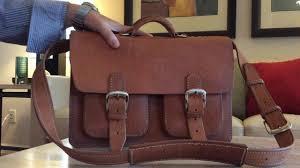 Tan Republic Bend Oregon Leather Briefcase Messenger Bag From White Buffalo Republic Of