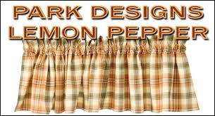 Park Designs Curtains Park Designs Lemon Pepper Collection
