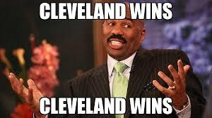 Cleveland Meme - cleveland wins cleveland wins meme steve harvey 65986