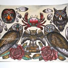 collection of 25 crab owl roses designs