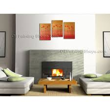 Contemporary Art Home Decor Triptych Contemporary Wall Art Floral Painting Tulip Contemporary