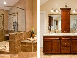 custom kitchen half open bathroom and light brown cupboard custom