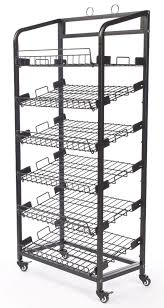 Container Store Bakers Rack Amazon Com Displays2go Steel Baker U0027s Rack With Wheels 6 Wire