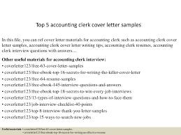 Sample Resume Accounting Clerk by Top5accountingclerkcoverlettersamples 150618080049 Lva1 App6891 Thumbnail 4 Jpg Cb U003d1434614501
