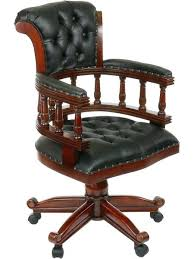 fauteuil bureau en cuir fauteuil cuir bureau fauteuil de bureau anglais en acajou cuir noir