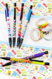 Washi Tape Designs by Diy Washi Tape Pencils Back To Craft