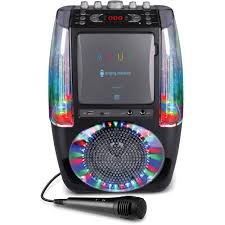singing machine with disco lights singing machine agua karaoke system walmart com
