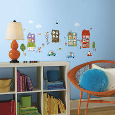 happy town peel and stick wall decals caleydaniel pte ltd rmk2759scs happy town peel and stick wall decals roomset tif