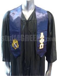 graduation stoles alpha phi omega satin graduation stole