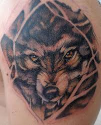 angry wolf with yellow eyes tattoo tattooimages biz