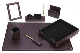 Leather Office Desk Office Supply Eco Friendly Leather Desk Set 93 Dsn7