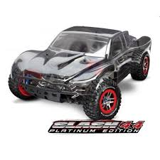 traxxas monster jam trucks traxxas slash 4x4 platinum 1 10 scale 4wd sc tra6804r rc planet
