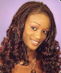 the half braided hairstyles in africa pretty black women hairstyle with half braids and half curls at