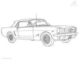 coloringpages vehicle car ford mustang coloring page 752455