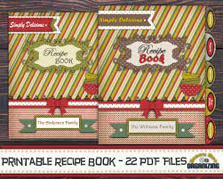 blank page recipe book