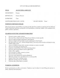 sle resume format for accounting assistant job summary accounting clerk job description for resume slebusinessresume