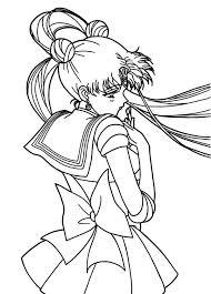 cute tsukino usagi sailor moon coloring color luna