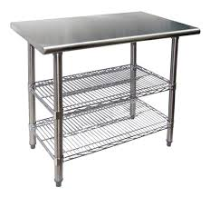 Evoo EVTS  Stainless Steel Work Table With  Adjustable - Kitchen prep table stainless steel