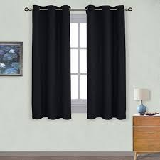 Grommet Kitchen Curtains Black Kitchen Curtains Amazon Com