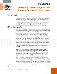 Starbucks Business Cards Starbucks Card Duetto Visa