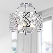 Flush Mount Chandeliers by Dazzling Crystals Catch The Light And Create A Richly Elegant