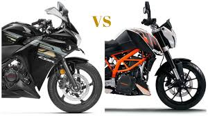 honda cbr baik honda cbr 250r vs ktm duke 200 comparison find new u0026 upcoming