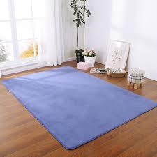 grand tapis chambre enfant l eau absorber anti slip rectangle plaine solide couleur flanelle